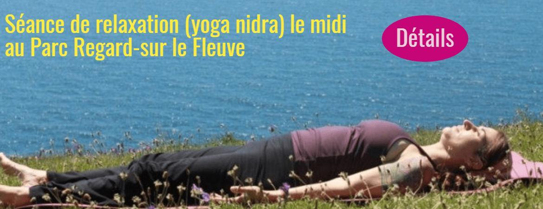 Séance de yoga au Parc