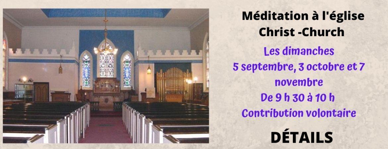 Méditation à l'église
